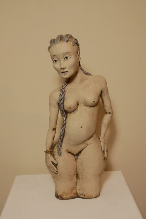 'plaited girl' sculpture (a)