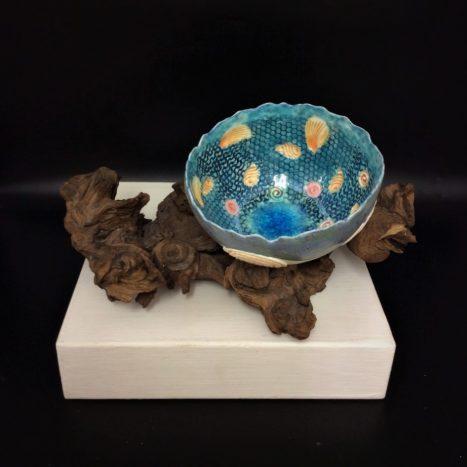 sea shell bowl - blue