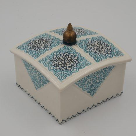 turquoise 'spire' large box