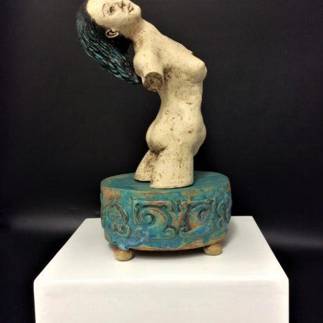 'water nymph' original sculpture in stoneware