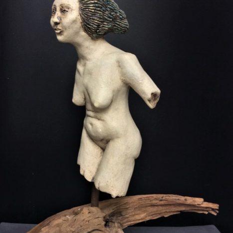 'windswept' original sculpture in stoneware